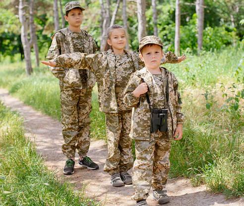 Детский камуфляжный костюм Лесоход камуфляж Пиксель, фото 2