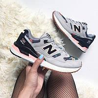 Стильные и яркие женские кроссовки New Balance 530 'Floral Ink'  / Реплика / 1:1 к оригиналу