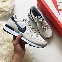 Только размер 38  !!!! Яркие женские кроссовки Nike Internationalist Beige  / Реплика / 1:1 к оригиналу