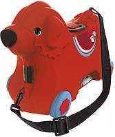 Каталка для малыша Big Путешествие с отделением для вещей красная (55350)