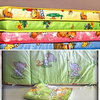Матрас в детскую кроватку+защита+постельное бельё.