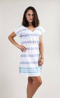 Платье Barine - Fine Cotton Dress White-Navy Turquise синий