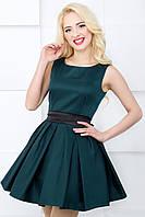 Женское платье 608 темно-зеленый