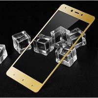 Защитное стекло для Xiaomi Redmi Note 4x Global version с золотыми рамками 2,5d