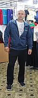 Мужской  спортивный трикотажный костюм синий Соккер