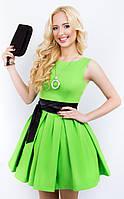Женское платье 608 салатовый