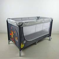 Манеж-кровать CARRELLO Piccolo+ CRL-9201 Grey ,серый