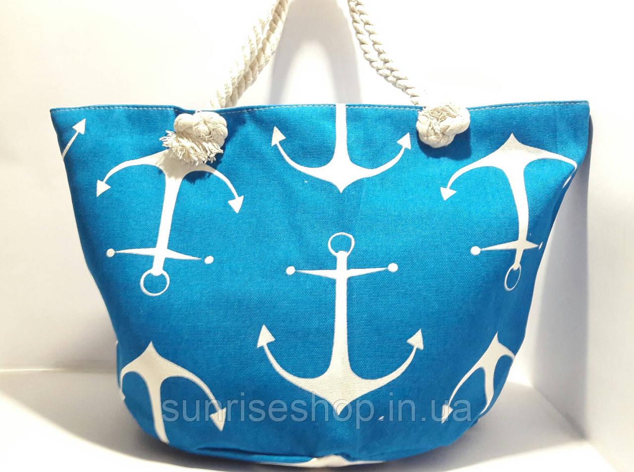 Пляжная летняя сумка Якорь