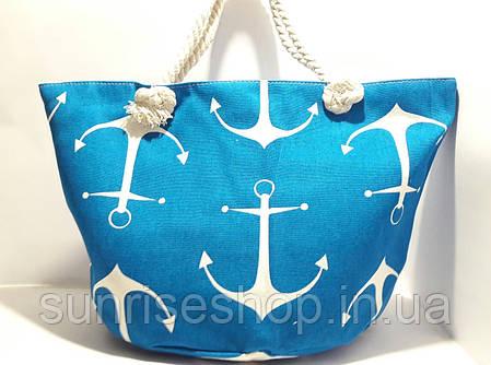 Пляжная летняя сумка Якорь, фото 2