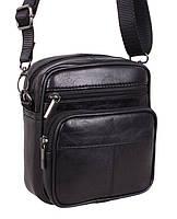 Кожаная мужская сумка через плечо Барсетка 16х14х8см