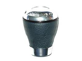 Ручка КПП 14010 черн.кожа/хром  (шт.)