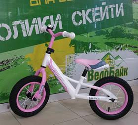 """Біговел 12"""" BALANCE AIR CR000001 рожевий CROSSER"""