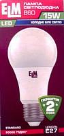 Светодиодная лампа ELM led B60 15W PA10L E27 4000 , фото 1