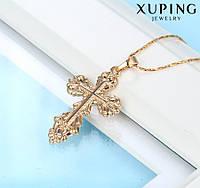 Кулон Позолота 18к Крест нательный православный (без цепочки)