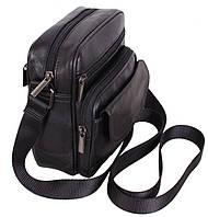 Кожаная мужская сумка через плечо Барсетка 18х16х8см