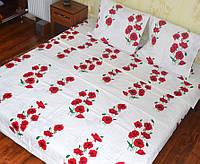 Красивое постельное белье из бязи Gold, Маки на белом