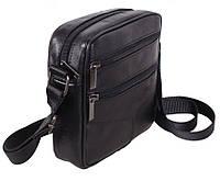 Кожаная мужская сумка через плечо Барсетка 18х17х6см