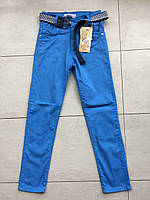 Цветные брюки-джинсы на мальчика 10-11 лет голубой