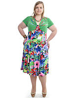 Женское платье на лето большего размера