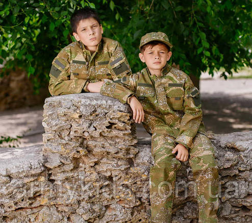 Детский военный костюм для мальчиков Киборг камуфляж ВАРАН, фото 2