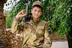Детский военный костюм Киборг для мальчиков цвет камуфляж ВАРАНЧИК, фото 2