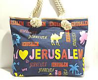 Пляжная летняя сумка для пляжа и прогулок Яркая накатка