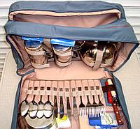 Сумка для пикника с набором посуды на 4 персоны + термоотдел Camping