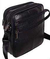 Кожаная мужская сумка через плечо Барсетка 19х17х6см