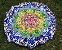 Пляжный коврик мандала, синий / Подстилка - парео / коврик для пляжа / ковер / пляжный мат