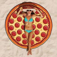 Пляжный коврик с Пиццой / Подстилка - парео / коврик для пляжа / ковер / пляжный мат