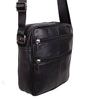 Кожаная мужская сумка через плечо Барсетка 22х19х7см