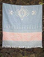 Полотенце Barine Pestemal - Eshme 90*160 Indigo темно-синее