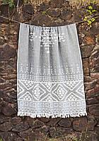 Полотенце Barine Pestemal - Eshme 90*160 Siyah чёрное