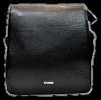 Практичная мужская сумка через плечо DESISАN натуральная кожа CМ-51