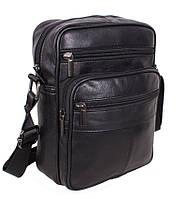 Кожаная мужская сумка через плечо Барсетка 24х18х9см