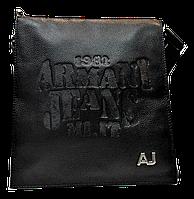 Интересная мужская сумка через плечо АJ натуральная кожа CМ-52