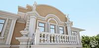 Применение пенопластовой и бетонной лепнины в классическом стиле (экстерьеры, фасады)