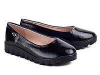 Туфли на тракторной подошве для девочек от фирмы Бабочка 801-3 (8пар, 31-36)