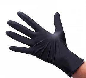 """Перчатки нитриловые черные Medicom """"S"""", 1 шт., фото 2"""