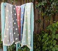 Полотенце Barine Pestemal - Stars 90*160 gray серое
