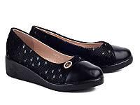 Школьная подростковая обувь. Туфли на танкетке для девочек от фирмы Бабочка 802-22 (8пар, 31-36)