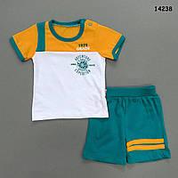 Летний костюм для мальчика. 68, 74, 80 см