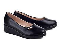 Школьная подростковая обувь. Туфли на танкетке для девочек от фирмы Бабочка 802-28 (8пар, 31-36)
