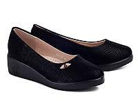 Школьная подростковая обувь. Туфли на танкетке для девочек от фирмы Бабочка 802-29 (8пар, 31-36)
