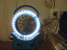 Вентилятор аккумуляторный со светильником