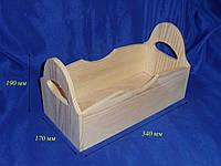 Ящик деревянный с двумя ручками 10.017