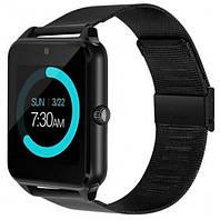 Смарт часы - умные часы телефон Smart Watch Z60 железный ремешок ЧЕРНЫЕ SKU0000775