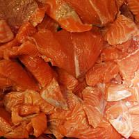 Куски лосося без шкуры и костей Чили