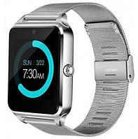 Смарт часы - умные часы телефон Smart Watch Z60 железный ремешок СЕРЕБРИСТЫЕ SKU0000776, фото 1