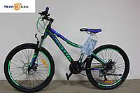 Велосипед 24 Benetti Forte 2017 рама алюм. сине-зеленый